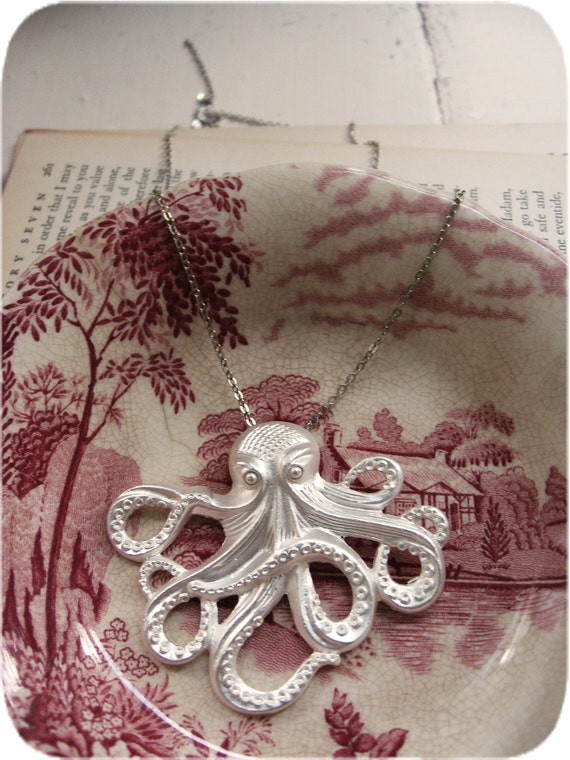 The Silver Storm Octopus Necklace