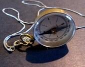 Retro Compass Pendant on chain