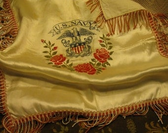 Vintage US Navy Printed Pillow Cover