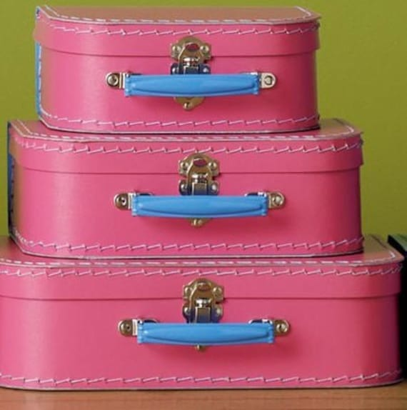 Pink Cardboard Suitcase | Luggage And Suitcases