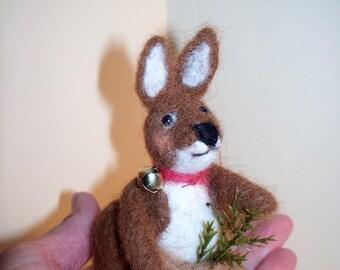 Wool Felted Kangaroom Ornament