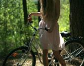 Light pink chiffon mini skirt