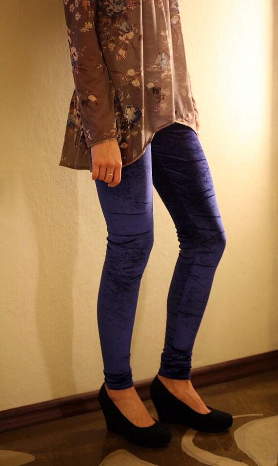 CLEARANCE SALE Blue Velvet leggings
