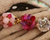 Vintage beaded bracelet bright pinks for your special mom
