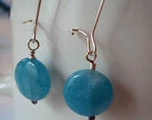 Aquamarine and Silver Long Dangle Earrings