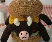 "Very Rare Indeed - (Ready to ship) crocheted cowburger ""Antigurumi"" amigurumi"