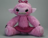 CUSTOM Pink She-Wolf - female werewolf amigurumi