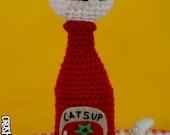 Kitty Catsup - (CUSTOM) crocheted amigurumi condiment cat