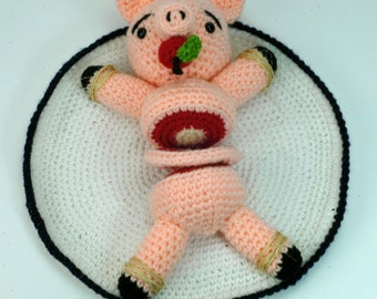 "Piggy bondage custom ""antigurumi"" figure"