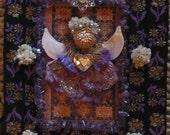 Nature Angel - Mixed Media Collage -OOAK framed original artwork