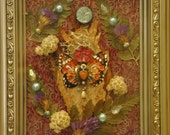 Butterfly Nature Angel - Mixed Media Collage -OOAK  framed original artwork