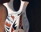 Painting and Prints Acoma Wedding Vase