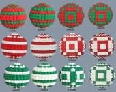 Brick Sphere Holiday Decorations Christmas Hanukkah Kwanzaa - Mix and Match 2, Save 10%