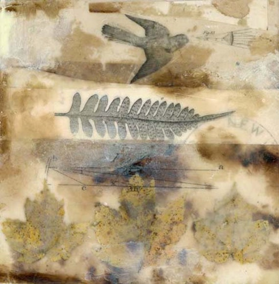 """Original Encaustic Painting """"Observations of the Observable World"""""""