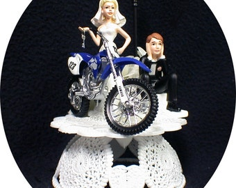 Off Road Dirt Bike Motorcycle wedding Cake topper YAMAHA