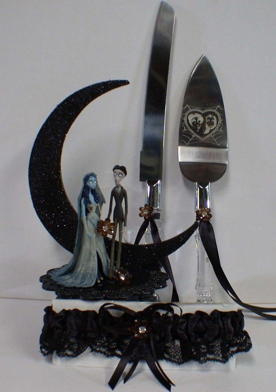 corpse bride wedding cake topper corpse amp victor wedding cake topper knife by 12953