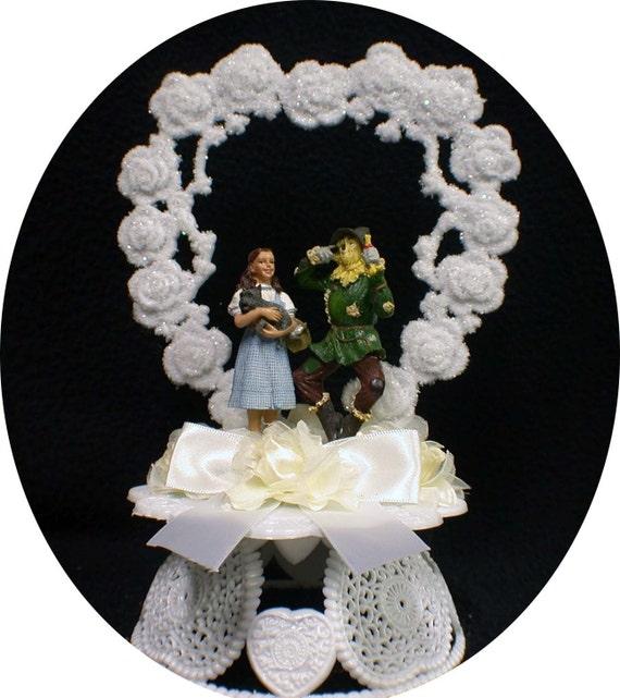 DORTHY & Scarecrow Wizard of OZ Wedding Cake Topper TOP