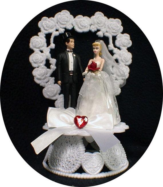 1950 S Style Wedding Hair: 1950 STYLE Blond Hair Barbie Ken Wedding Cake By