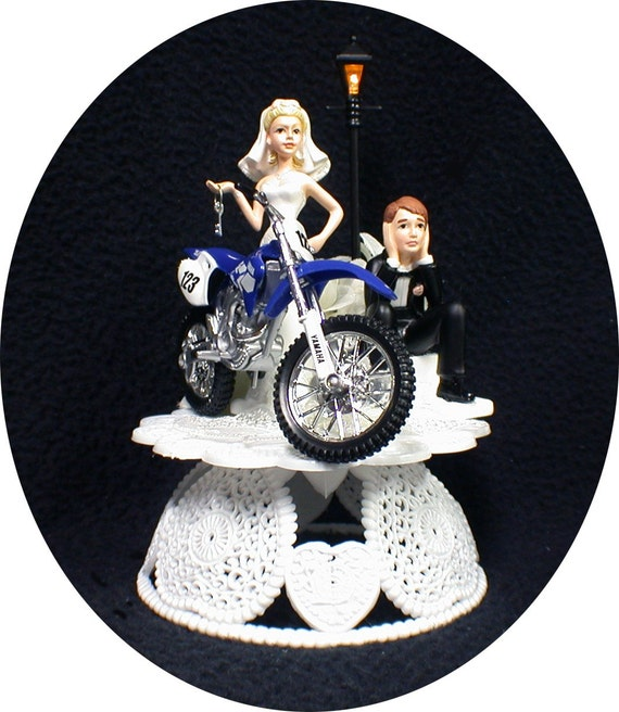 dirt bike wedding cake toppers road dirt bike motorcycle wedding cake topper yamaha 13535
