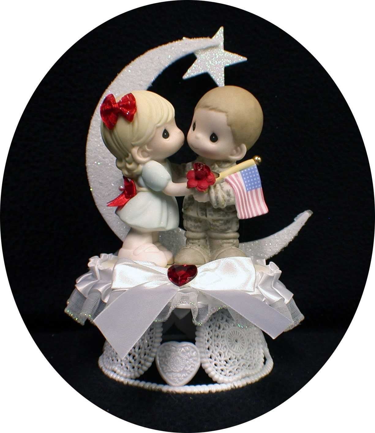 Precious Moment Marine Wedding Cake Toppers