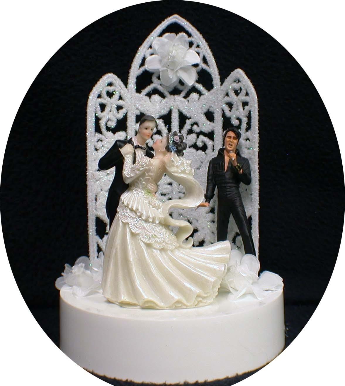 Elvis Presley King Las Vegas Wedding cake topper by