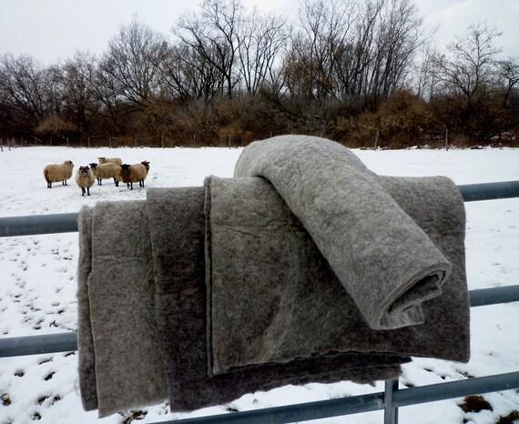 "Sheet of Organic Wool Felt 20"" x 30"" at 1/2"" thick"