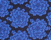 Dark Blue Floral Fabric