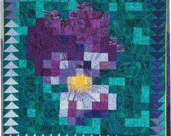 Quilt Art - Violet Mosaic