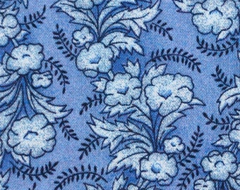 Blue Floral 1 Fabric