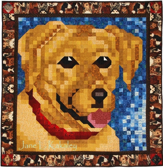 Quilt Pattern - Yellow Lab Mosaic Quilt Pattern