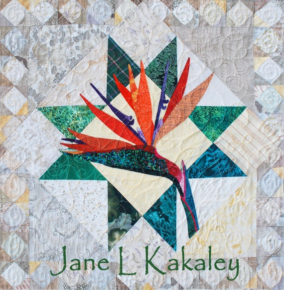 Quilt Pattern  PDF  Bird of Paradise Applique Art Quilt Pattern  Quilt Patterns Applique Birds