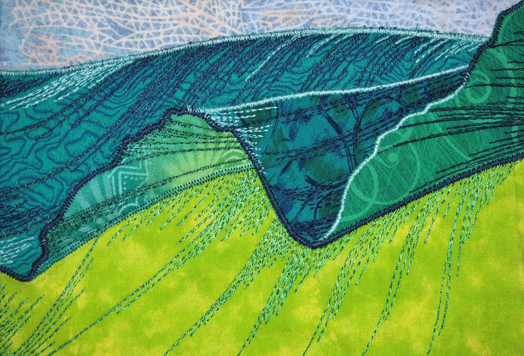 Quilt Art Musa Balbisiana No 18 Textile Fabric Art