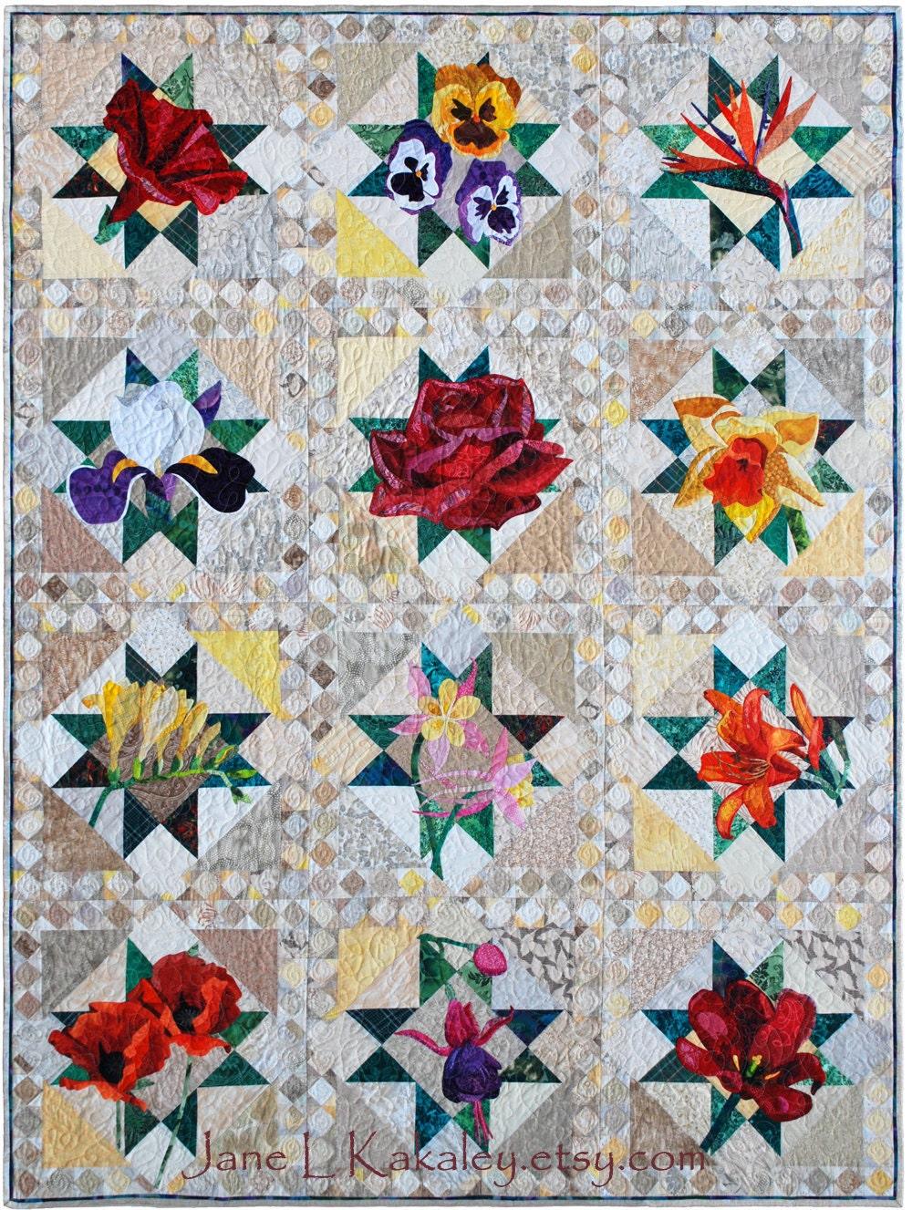 Quilt Pattern - PDF - Bird of Paradise Applique Art Quilt Pattern ... : applique quilts patterns - Adamdwight.com