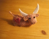Harris Tweed Highland Coo Brooch - Free Shipping