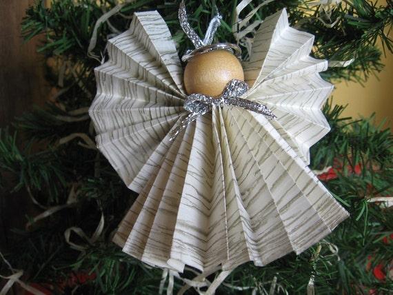 Angel Christmas Ornament Paper Ribbon Angel
