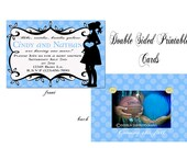 Polk a dot Posh Printable Double sided Shower Invitation-custom color options available
