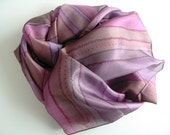 Silk shawl  hand painted pink , silk shawl handpainted - Hand painted silk accessory OOAK ready to ship