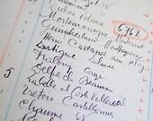 1933 handwritten Vintage French 6 ledger sheets