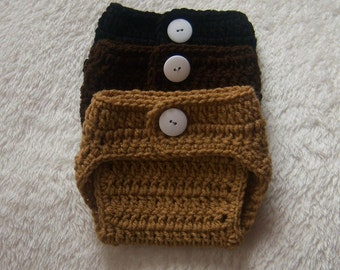 Diaper Cover Baby Newborn 2 sizes Photo Prop Match  Color any Beanie