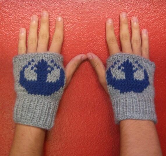 Star Wars inspired Rebel Alliance fingerless gloves