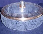 Vintage Glass Dresser Jar