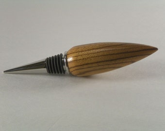 Bottle stopper exotic zebrawood