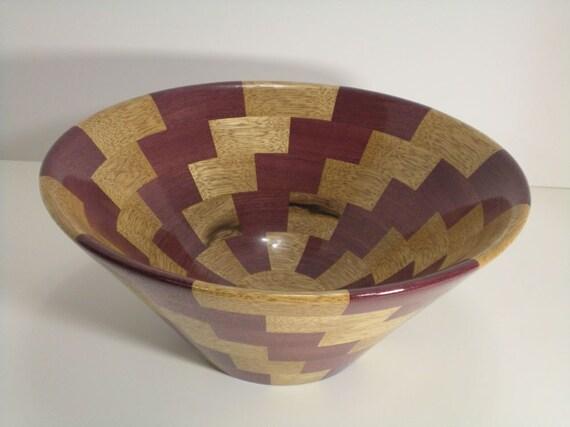 Bowl, Purpleheart and Limba