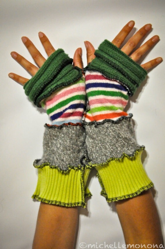 Recycled Arm Warmers