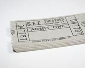 100 Vintage Grey Staunton Virginia Theater Tickets - Mixed Media, Altered Art, Collage, Assemblage Supplies