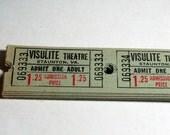 25 Vintage Theatre Tickets - Green