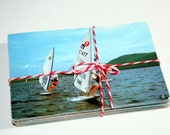CLEARANCE 50 Vintage Used Boat Chrome Postcards SALE 50% OFF