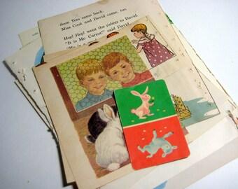 Vintage Ephemera Collage Kit  - My Pet Rabbit