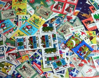 50  Vintage Christmas Seals 1930s-1970s