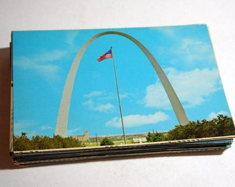100 Vintage Missouri Chrome Postcards Blank - Travel Themed Wedding Guestbook